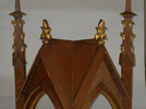 Tabernacle Cover: Wood, 32 inches high, Livermore, ME; fragment of a Gothic altar. Photo: DP