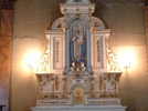 Altar: 8 feet wide by 10 feet high (additional 4 feet with statue of Notre Dame du Mont-Carmel) Photo: DP
