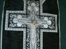 Chasuble: Priest's funeral vestment. Photo: DC