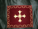 Bourse du corporal: Envelope for corporal cloth that priest used for communion purposes. Photo: DC