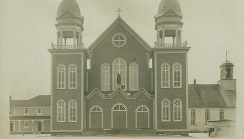 Original church, 1910